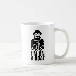 Ich bin auf einem Boot Kaffeetasse