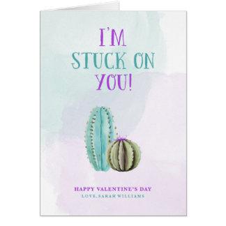 Ich bin auf Ihnen Kaktus-Valentinsgruß fest Karte