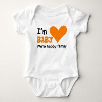 Ich bin Baby-Familien-Paar-Baby-Jersey-Bodysuit Baby Strampler