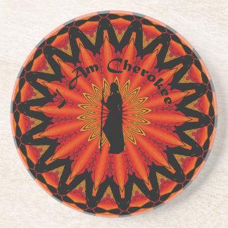 Ich bin Cherokee Sandstein Untersetzer