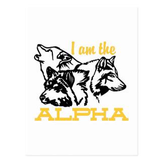 Ich bin das Alpha Postkarte