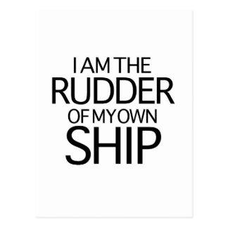 Ich bin das Steuer meines eigenen Schiffs Postkarte