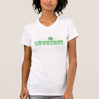 """""""Ich bin der GLÜCKLICHSTEN"""" T - Shirt der Frauen"""