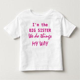 Ich bin die große Schwester Kleinkind T-shirt