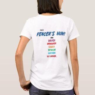 Ich bin die Mama eines Fechters! T-Shirt, Damen T-Shirt
