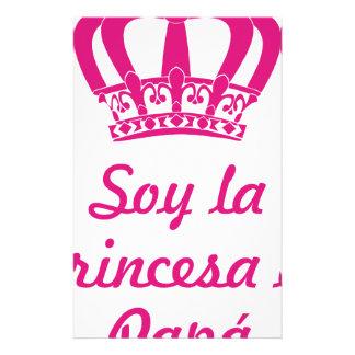 Ich bin die Prinzessin des Papas Briefpapier