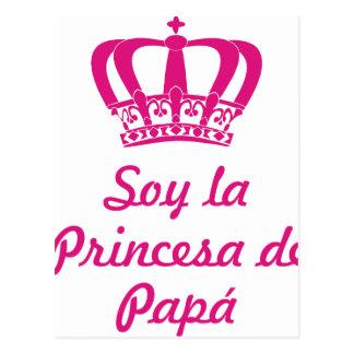 Ich bin die Prinzessin des Papas Postkarte