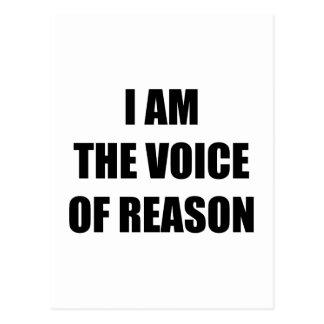 Ich bin die Stimme des Grundes Postkarte
