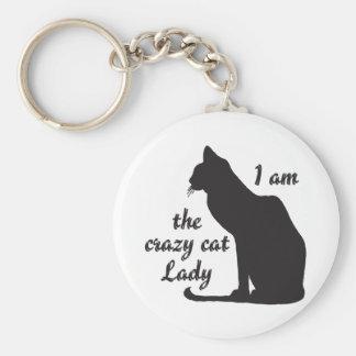 ICH BIN die VERRÜCKTE CAT-DAME Keychain Schlüsselanhänger
