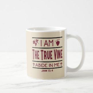 Ich bin die wahre Rebe-christliche Kaffee-Tasse Kaffeetasse