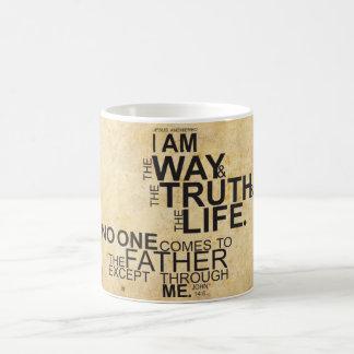 Ich bin die Weise die Wahrheit und die Leben-Tasse Kaffeetasse