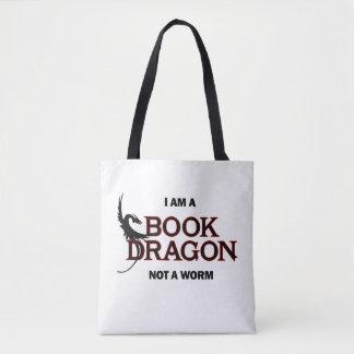 Ich bin ein Buch-Drache, nicht ein Wurm Tasche