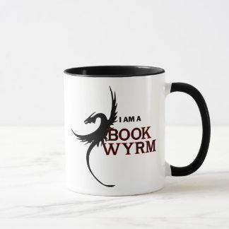 Ich bin ein Buch Wyrm (eine Seite gedruckt) Tasse