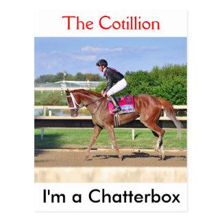 Ich bin ein Chatterbox-Gewinne der Kotillon Postkarte