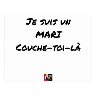 Ich bin ein Ehemann Couche-toi-là - Wortspiele Postkarte