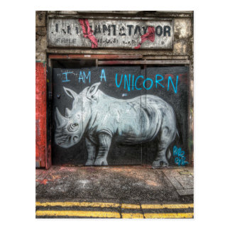 Ich bin ein Einhorn, Shoreditch Graffiti (London) Postkarte