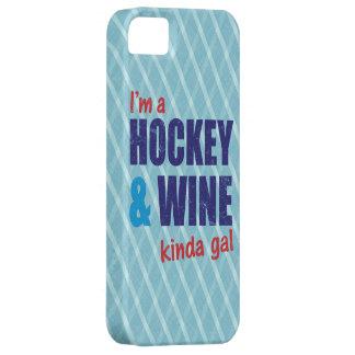 Ich bin ein Hockey u. ein Wein ein bisschen iPhone 5 Schutzhüllen