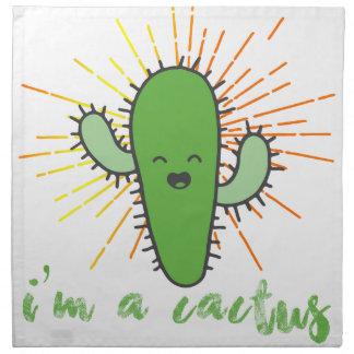 ich bin ein Kaktus Stoffserviette