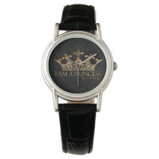 Ich bin ein klassisches Leder Frauen Uhr