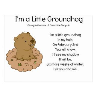 Ich bin ein kleines Groundhog Postkarte