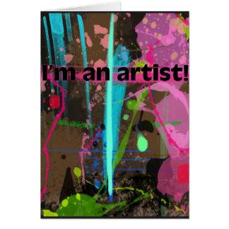 Ich bin ein Künstler! Grußkarte