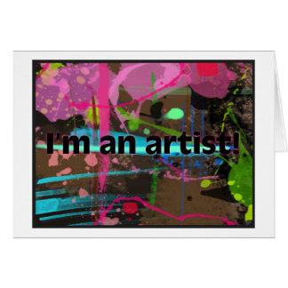 Ich bin ein Künstler! Mitteilungskarte