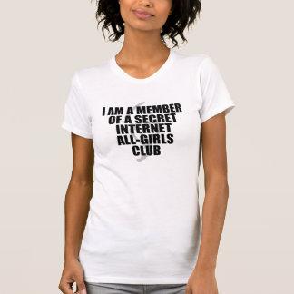 Ich bin ein Mitglied eines Geheimnis-Internet T-Shirt