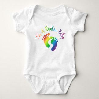 Ich bin ein Regenbogen-Baby-Bodysuit Baby Strampler