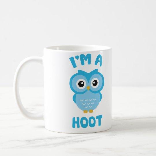 Ich bin ein Schrei (niedliches Eulen-Wortspiel) Kaffeetasse
