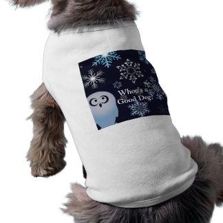 Ich bin ein Schreisnowy-Eulen-Weihnachtseulen-Blau Shirt