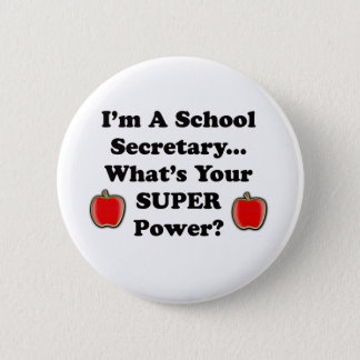 Ich bin ein Schulsekretär Runder Button 5,7 Cm