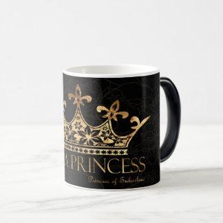 Ich bin ein Schwarzes Prinzessin-w/Crown Verwandlungstasse