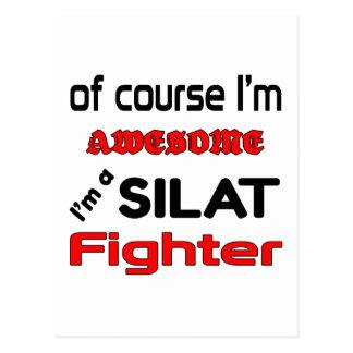 Ich bin ein Silat Kämpfer Postkarte