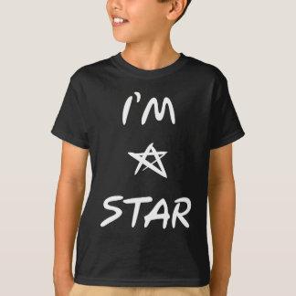 Ich bin ein Stern-Humor-Weiß-Slogan T-Shirt