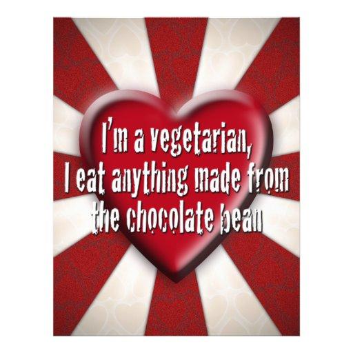 Ich bin ein Vegetarier, Flyerbedruckung