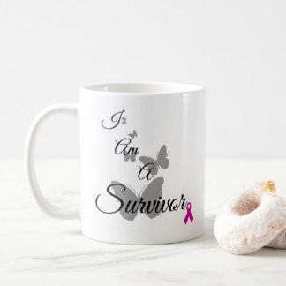 Ich bin eine Brustkrebs Überlebend-Tasse Kaffeetasse