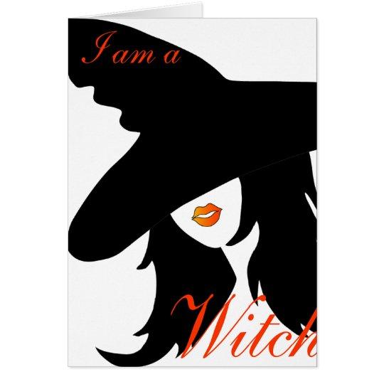 Ich bin eine Hexe, aber ich bin ein Woman_card Grußkarte