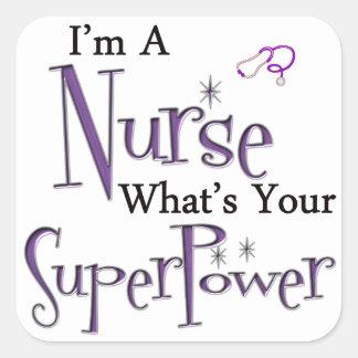 Ich bin eine Krankenschwester Quadratischer Aufkleber