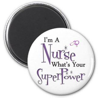 Ich bin eine Krankenschwester Runder Magnet 5,1 Cm