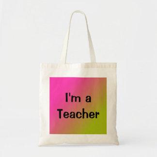 Ich bin eine Lehrer-Taschen-Tasche Budget Stoffbeutel