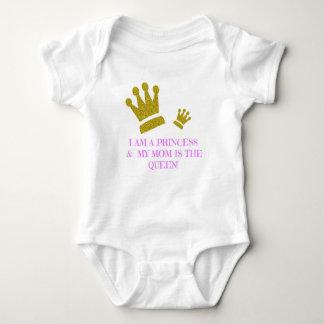 Ich bin eine Prinzessin u. ist meine Mamma der Baby Strampler