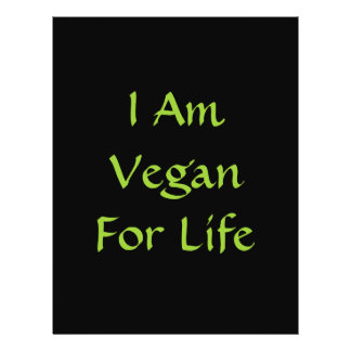 Ich bin für das Leben vegan. Grün. Slogan. Gewohnh Personalisierte Flyer