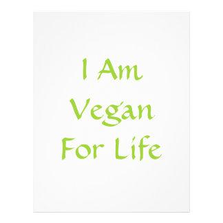 Ich bin für das Leben vegan. Grün. Slogan. Gewohnh Custom Flyer