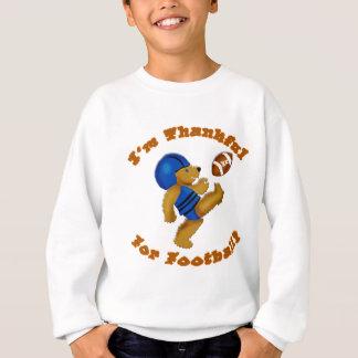 Ich bin für Fußball-Erntedank-Entwurf dankbar Sweatshirt