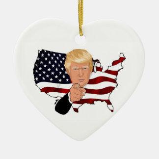 Ich bin für Trumpf-Herz-Verzierung Keramik Ornament