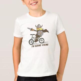 Ich bin gehender Viking lustiger Wordplay T-Shirt