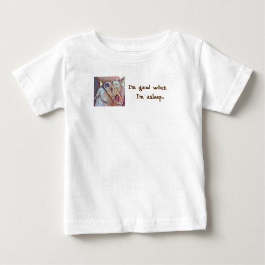 Ich bin gut, wenn ich schlafender Baby T - Shirt