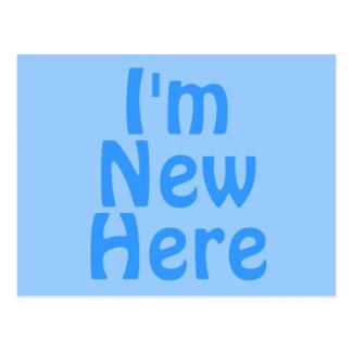 Ich bin hier neu. Blau. Gewohnheit Postkarte