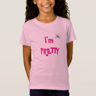 Ich bin hübscher Mädchen-T - Shirt