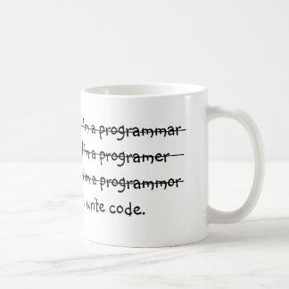 Ich bin ich schreibe Code ein programmar Tasse